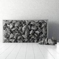 stone rock gabion 3D model