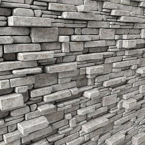 3D panel stone brick