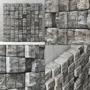 3D panel stone cube