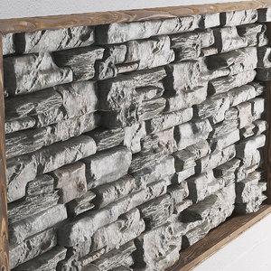 panel decor stone 3D model