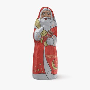 chocolate santa claus 3D