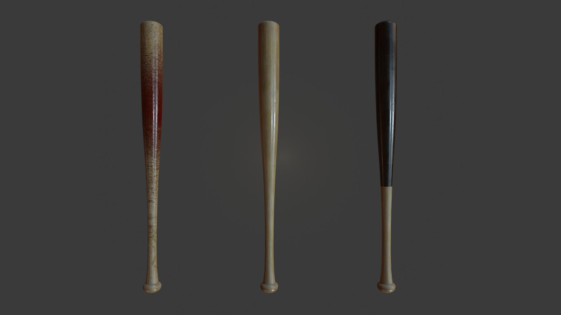 bat ball 3D model