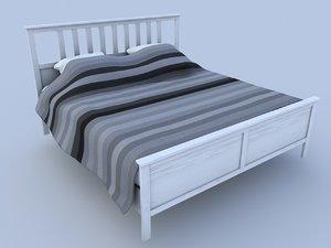 ikea hemnes bed 3D