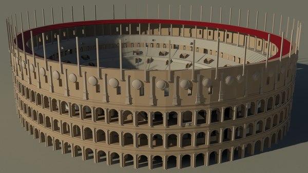 3D model roman colosseum