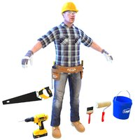 handyman worker man 3D