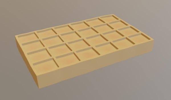 3D orange waffle model