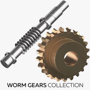 worm gears 3D