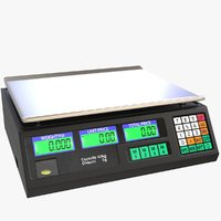 electronic price computing scale 3D model