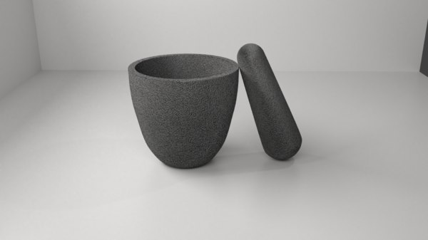 stone mortar pestle 8 3D model