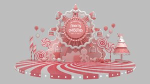 ferris wheel art shoppingmall model