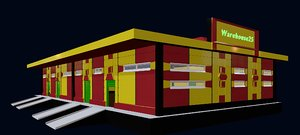 warehouse building architecture 3D