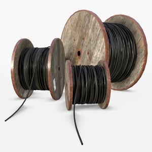 3D wooden cable reels