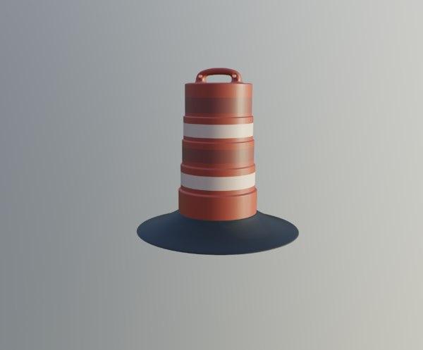 3D road barrel model
