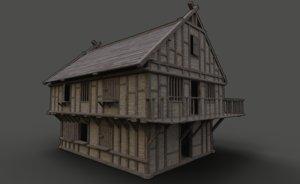 3D ready fantasy medieval tavern model