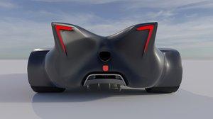 3D model street legal car