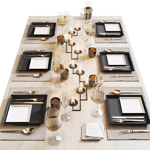 table setting 12 3D
