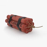3D dynamite explosive bomb