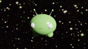 3D mooncake final space alien model