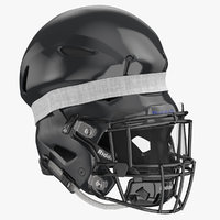 football helmet squeezed 3D model