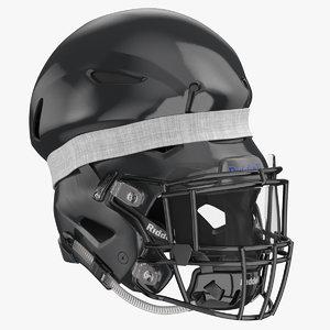football helmet squeezed 3D model