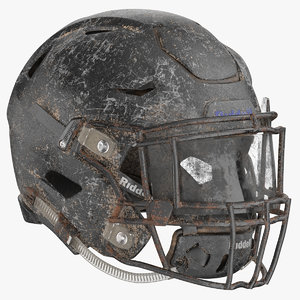 3D football helmet rusty model