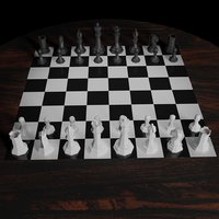 chess pieces 3D model