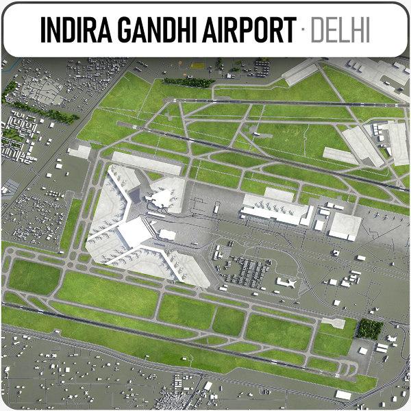 indira gandhi international airport 3D model