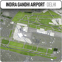 indira gandhi international airport 3D model