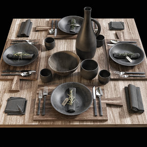 3D model table setting 15