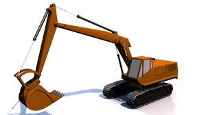 3D construction excavator
