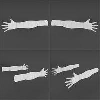 3D hands base mesh model