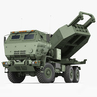 m142 himars army truck model