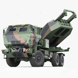 3D m142 himars army truck