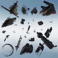 space debris 3D model