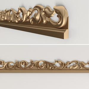 classic molding 3d obj
