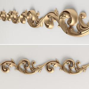 decorative frieze 3d max
