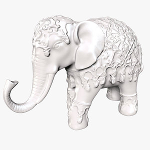 elephant statue 3D