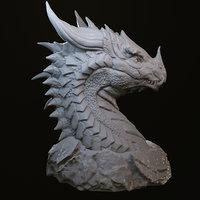 dragon head printing 3D model