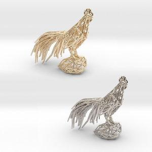 3D chicken cocks model
