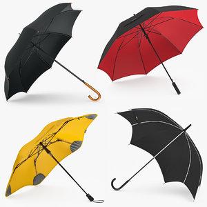 umbrellas set 3D model