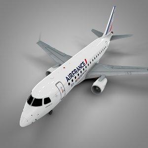 3D model airfrance embraer170 l465
