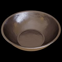 3D model metal bowl decoration