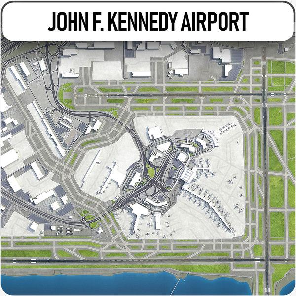 john f kennedy international 3D model