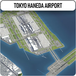 tokyo haneda airport - 3D model