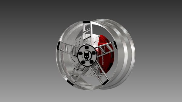 different rims 3D model