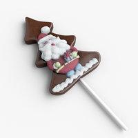 santa cookie 3D