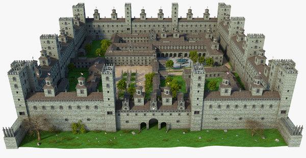 3D town medieval model