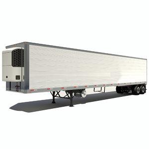 3d refrigerated semi trailer