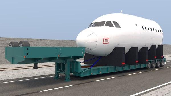 trailer airplane model