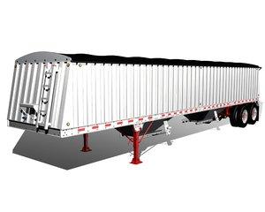 3d grain semi trailer model